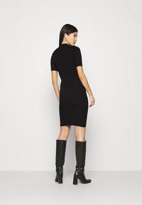 Anna Field - QUARTER SLEEVES POLO MINI DRESS FITTED - Shift dress - black - 2