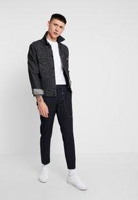 Topman - WEIST CHAIN - Trousers - navy - 1