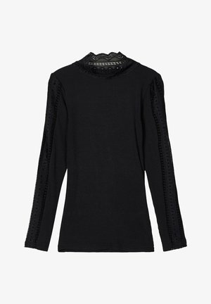 STEHKRAGEN - Long sleeved top - black
