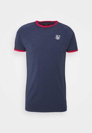 PREMIUM RINGER GYM TEE - T-shirt print - navy