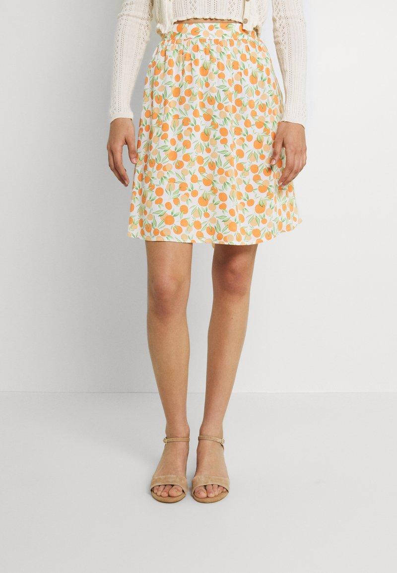 Pieces - PCNYA SKIRT - Mini skirt - buttercream