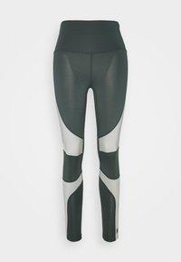 HIIT - HIGH SHINE PANEL LEGGING - Leggings - mid grey - 4