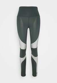 HIGH SHINE PANEL LEGGING - Leggings - mid grey