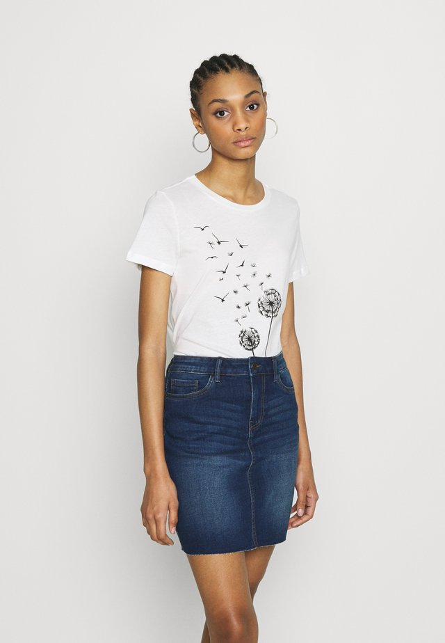 VMALMA DANDELOIN FRANCIS - T-shirt z nadrukiem - snow white