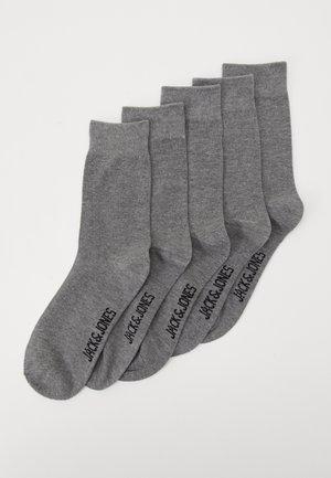 JACJENS SOCK 5 PACK - Ponožky - light grey melange