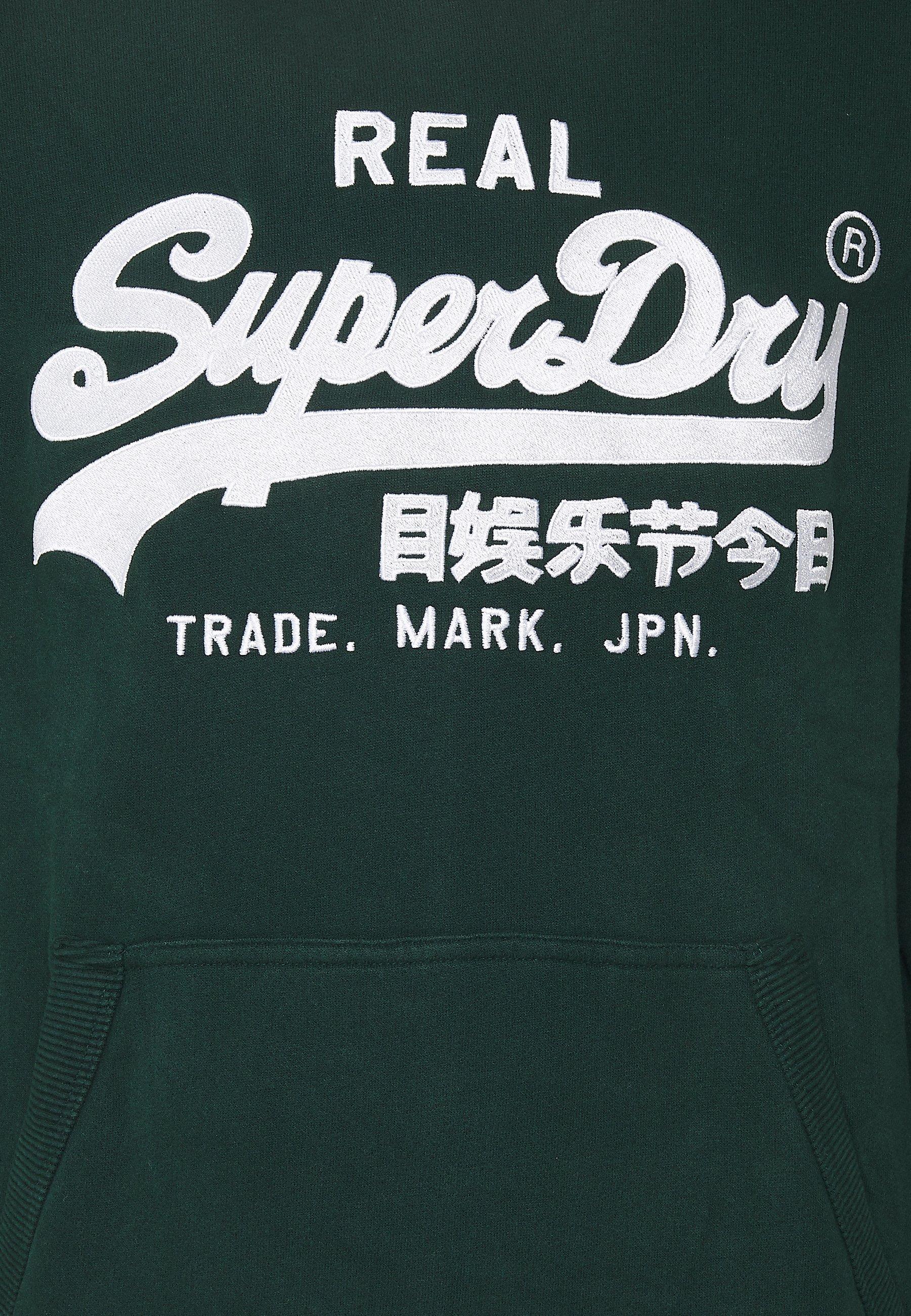 Superdry Embroidery Hood - Hoodie Pine/mørkegrønn