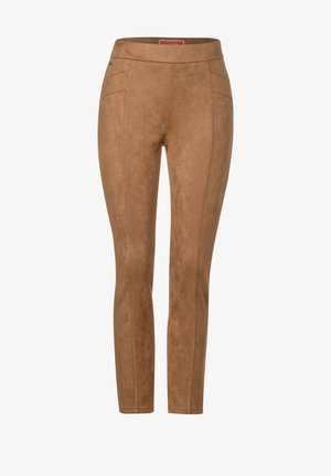 IN VELOURSOPTIK - Leggings - Trousers - braun