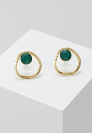 LIW GLOBE EAR - Earrings - gold-coloured/green