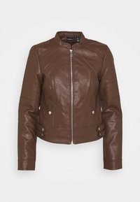 VMLOVE SHORT COATED JACKET - Faux leather jacket - rocky road