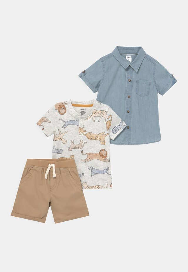 SET - T-shirts print - beige
