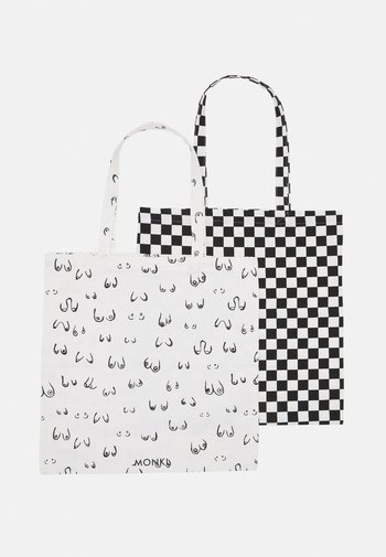 MAJA 2 PACK - Tote bag - white/black