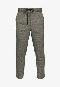 New Look - HAROLD TONAL CHECK PULL ON - Bukser - dark grey - 4