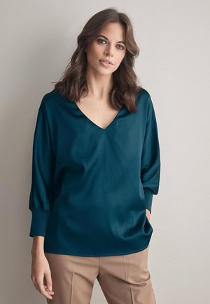 Bluse - mottled light blue