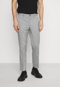 Selected Homme - SLHSLIM MYLOLOGAN CROP - Trousers - light grey melange - 0