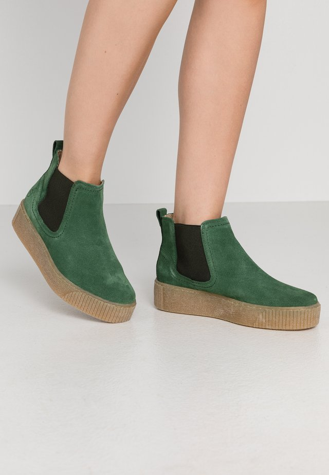 Ankle boots - jungle green