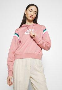 Nike Sportswear - HOODIE - Hoodie - rust pink/white - 3