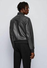 BOSS - NIPET - Leather jacket - black - 2