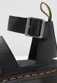 Dr. Martens - CLARISSA QUAD - Platform sandals - black aunt sally - 5