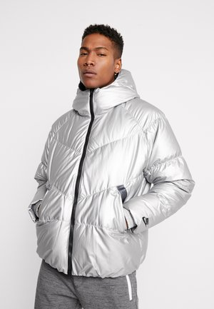 Down jacket - metallic silver/dark grey/black
