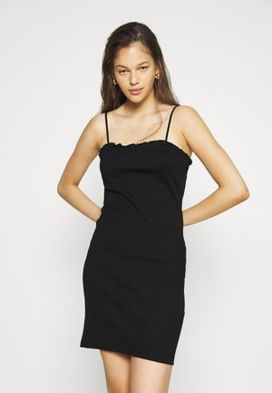 PCTEGAN STRAP DRESS - Pletené šaty - black