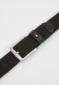 Tommy Hilfiger - DENTON  - Braided belt - black - 4