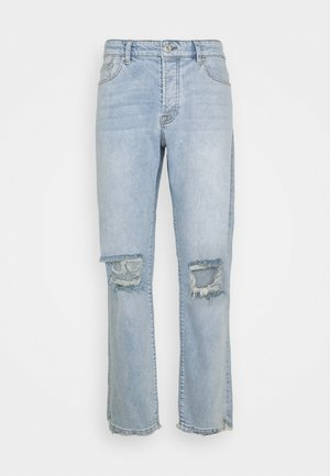 PURRAL DISTRESSED ANKLE - Džíny Straight Fit - light blue