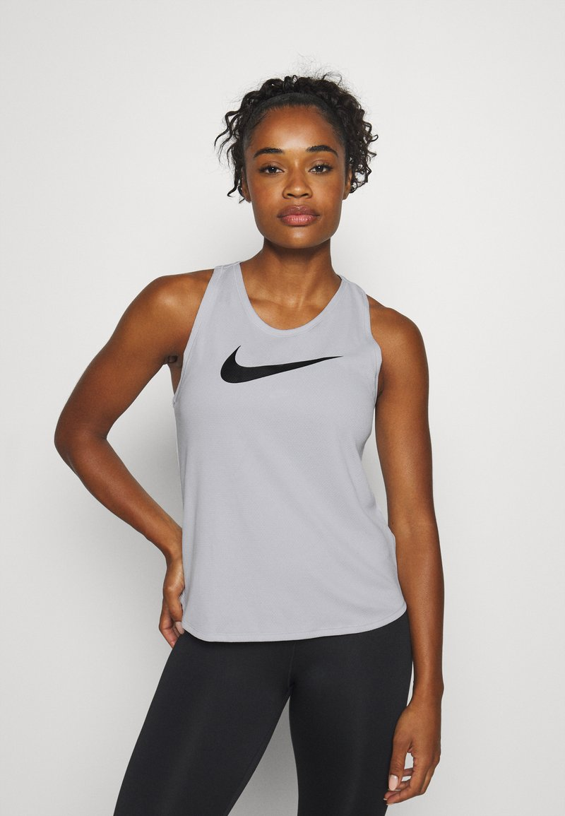 Nike Performance - RUN TANK - Funktionsshirt - grey fog/black