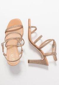 Unisa - SIMO - High heeled sandals - gold - 3