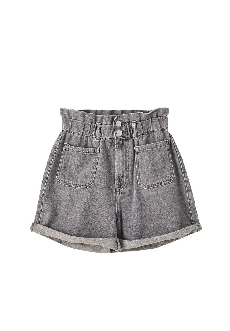 PULL&BEAR - Denim shorts - light grey