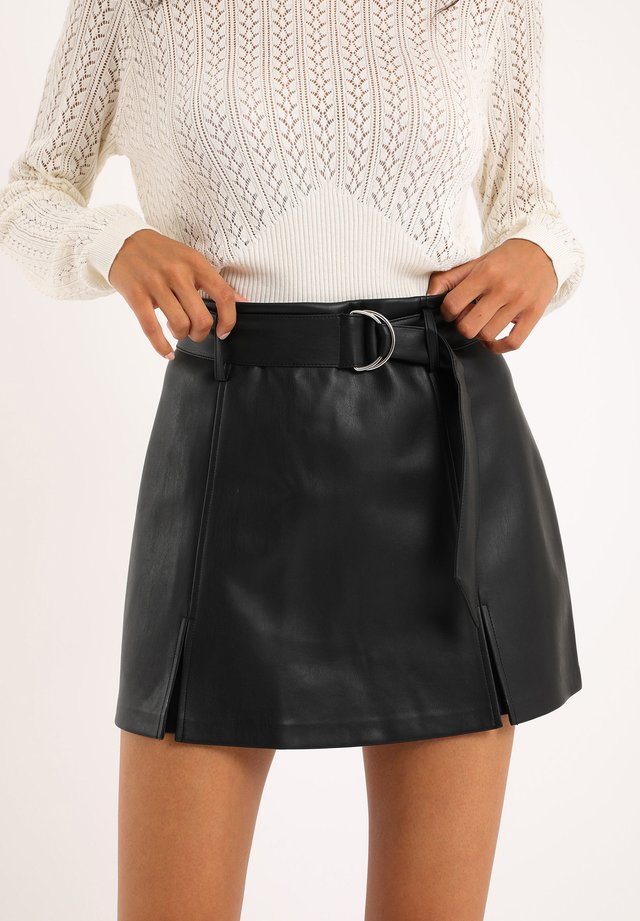 AUS - A-line skirt - schwarz