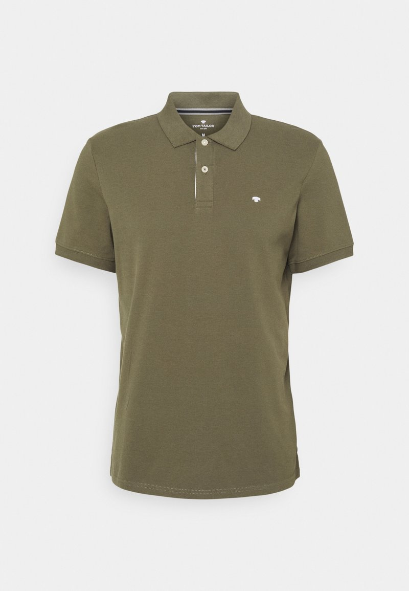 TOM TAILOR - BASIC WITH CONTRAST - Polo shirt - oak leaf green
