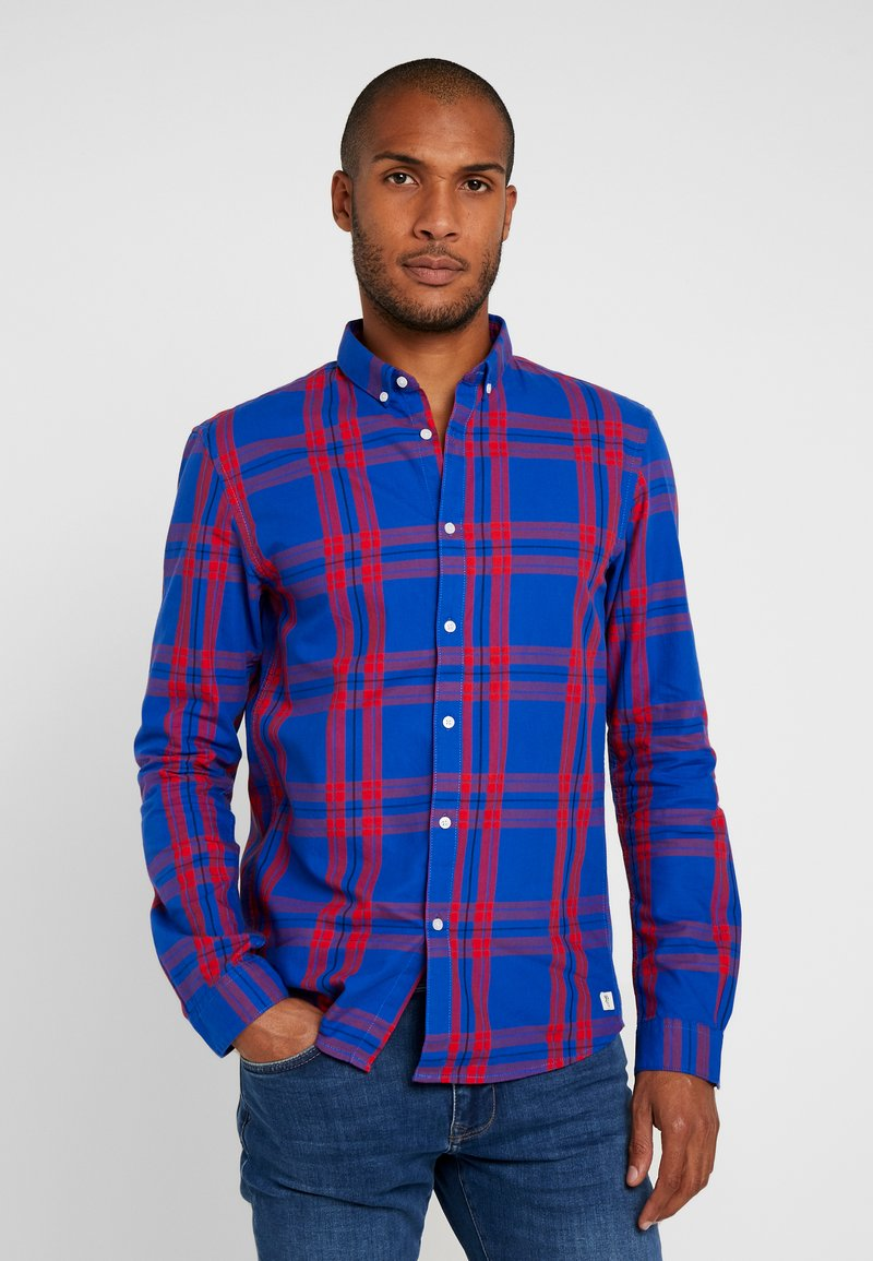 TOM TAILOR DENIM - CHECK AND STRIPE SHIRTS - Koszula - blue/red