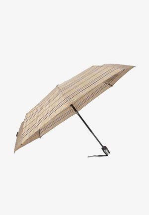 Medium Duomatic - Umbrella - check beige