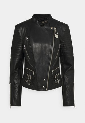 L-IGE-NEW-A - Leather jacket - black