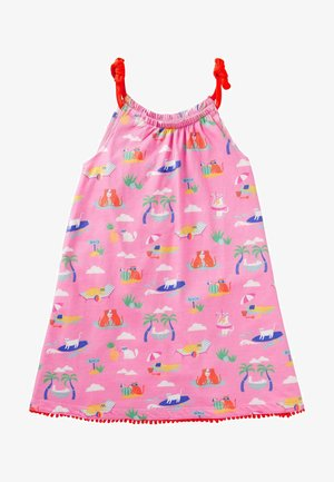 Day dress - pflaumenblütenrosa, katzen im sommerurlaub