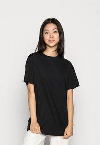 Vero Moda - VMOBENTA OVERSIZED 2-PACK - Basic T-shirt - black & kalamata - 2