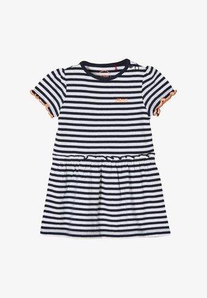 Jersey dress - white stripes