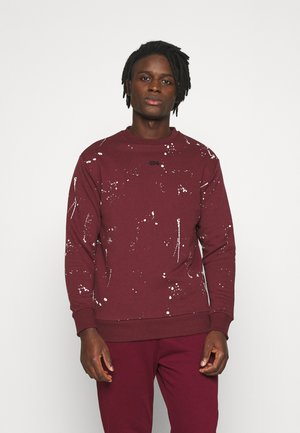 PAINT SPLAT CREW - Sweatshirt - burgundy