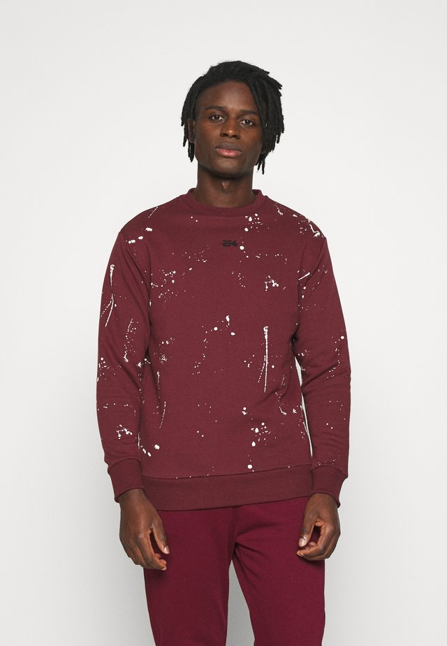 PAINT SPLAT CREW - Sweater - burgundy