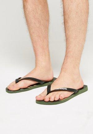 UNISEX - Flip Flops - green olive