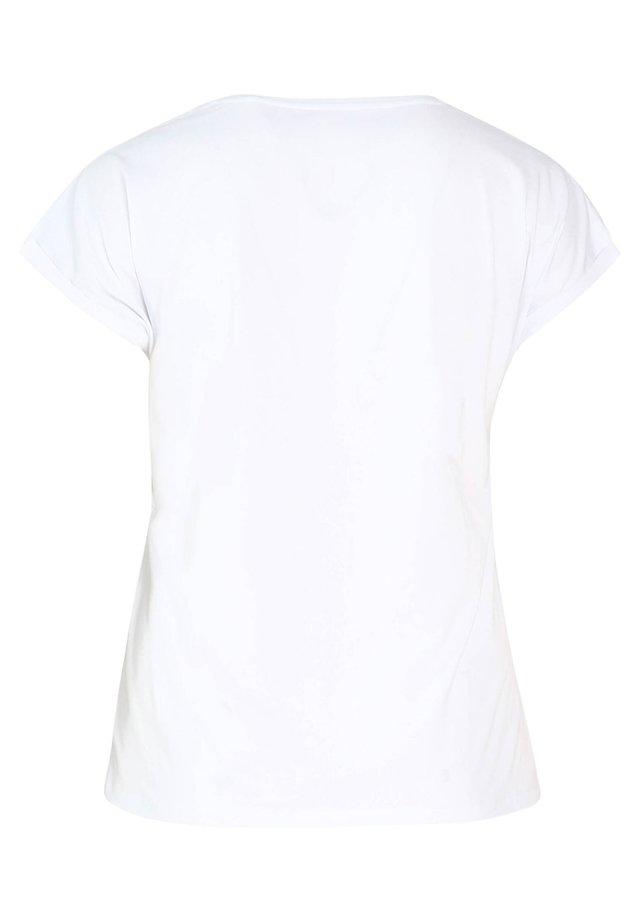 MIT AUFDRUCK SIMBA - T-shirt med print - white