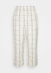 Madewell - PRINTED TAPERED HUSTON - Trousers - beige - 0