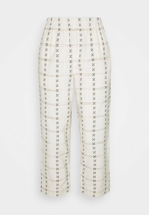 PRINTED TAPERED HUSTON - Trousers - beige