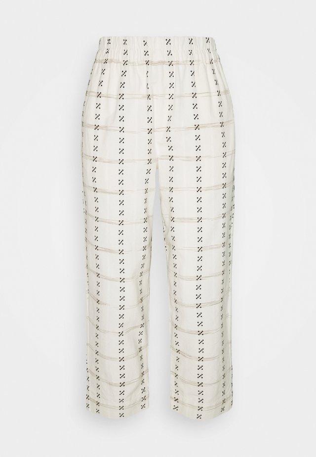 PRINTED TAPERED HUSTON - Pantaloni - beige