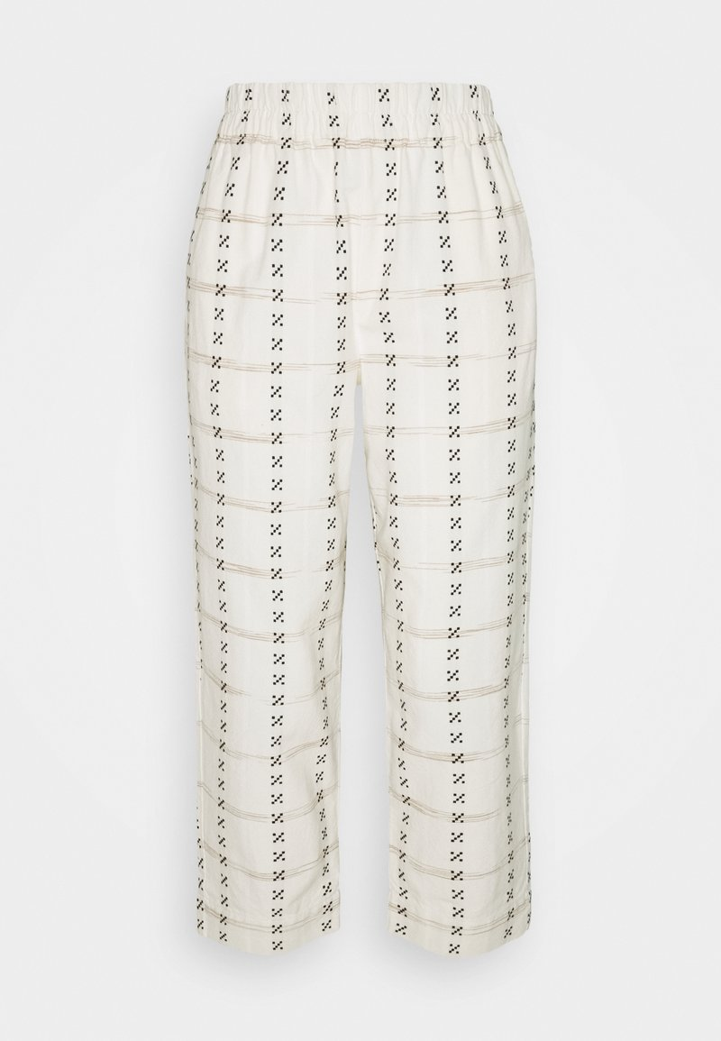 Madewell - PRINTED TAPERED HUSTON - Trousers - beige