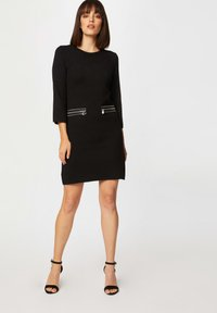 Morgan - STRAIGHT  WITH ZIPPED DETAILS - Jumper dress - black - 1