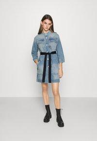 G-Star - SHIRT DRESS - Denim dress - vintage marine blue - 1