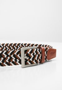 Slopes&Town - Braided belt - black/white/brown - 3