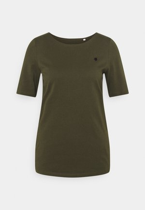 SHORT SLEEVE ROUND NECK - Jednoduché triko - native olive