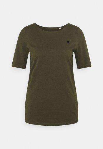 SHORT SLEEVE ROUND NECK - Basic T-shirt - native olive